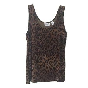 Chico's Travelers Leopard / Animal Print Tank Top